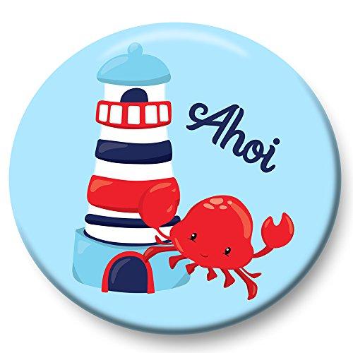 Kostüm Kind Ziel Am - Polarkind Button Pin maritimer Anstecker AHOI Leuchturm 38mm Handmade