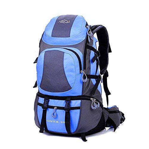 Diamond Candy Zaino da Trekking Outdoor Donna e Uomo con Protezione Impermeabile per alpinismo arrampicata equitazione ad Alta Capacit¨¤ borsa da viaggio,Multifunzione, 38 litri Arancione Azzurro