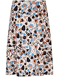 Weird Fish Malmo Printed Jersey Skirt
