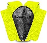 Decalen Hosenträger für Herren breit extra starken Clips Y Form Lang Eine Größe Passt Alle Männer und Damen Verschiedenen Farben (Gelb Neon)