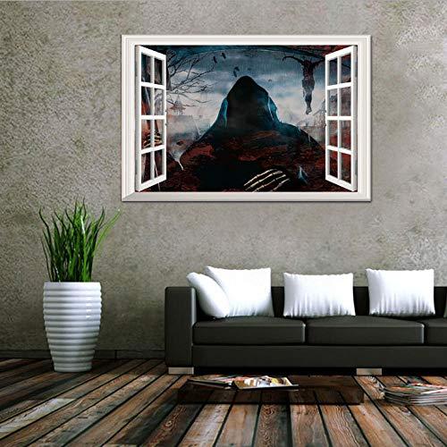 Kreative stereo 3D gefälschte fenster wandaufkleber Halloween tod advent aufkleber wohnzimmer schlafzimmer dekoration 50 * 70 cm