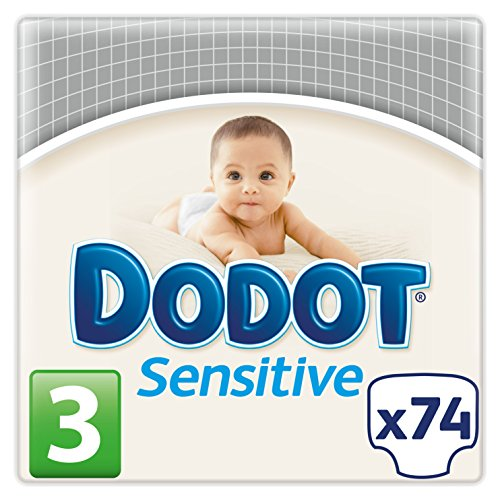 Dodot Sensitive - Pañales para bebés, talla 3 (5 - 10 kg), 2 packs de 74, 148 pañales