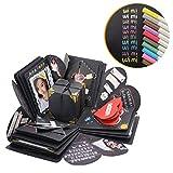 Boite Explosion WIMI Explosion Box DIY Boite Album-Photo Tutoriel Vidéo de 30 Min et 12 Cartes Drôles 15 Sortes DIY D'accessoires pour...
