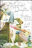 "Jonny Javelin Daughter Birthday Card - Girl With Picnic 9"" x 6.25"" Code V304"