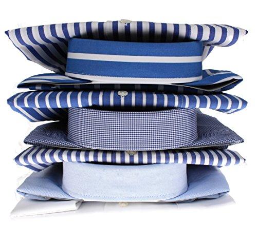 Bots & Bots 166002 Exclusive Collection - Chemise Homme Coton Col Boutonnné Normal Fit Bleu
