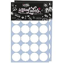 48Kitchen Labels redondo, blanco · accesorio para artículo de especias, etiqueta para escribir