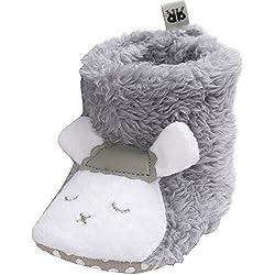 EOZY-Scarpine Stivali Bimbi Morbide Peluche Scarpe Bambini Primi Passi Fumetto Pecora Grigio Lunghezza Interna 12cm