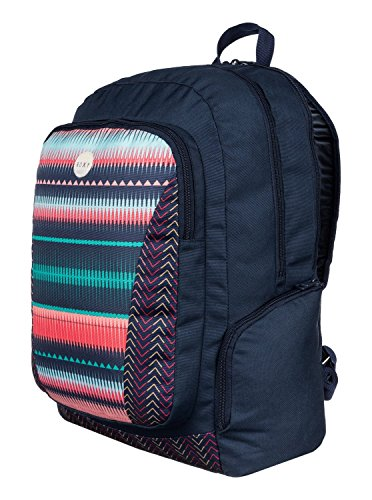 Roxy - Backpack Alright, Borsa da donna Nero (6537 jagged stripe gpf3)