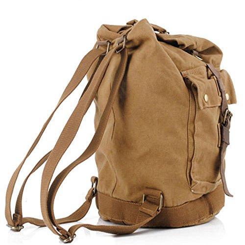 Herren Schulter Umhängetasche Segeltuchtasche Alltags-Tasche Laptop-Tasche für 15 Zoll-Laptops, groß (dunkelbraun ) Khaki