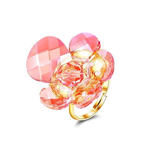 barbie, anello da ragazza e donna, anello dalla forma di fiore, anello moda , anello di squisita fattura #BSJZ009.01A