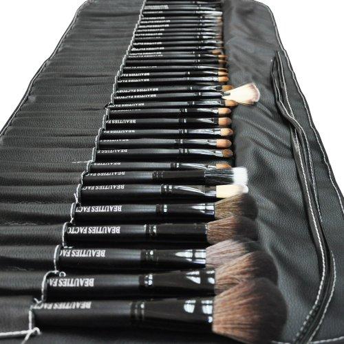 BestOfferBuy 35pcs Beauties Factory de Maquillage Complète Brosse Pochette Sac Pro Noir
