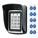 HFeng RFID Metall Access Control Keypad 125 KHz EM Kartenleser mit 10 EM4100 keyfobs + Wasserdichte protecter abdeckung Für Tür Access Control System