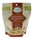 Simply Shari's Gluten-free Chunky Chocolate Chip Shortbread Cookies – All-natural, Wheat-free, and Non-GMO – 6.5 Ounces in Resealable Pack