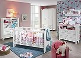 Babyzimmer, Kinderzimmer, Komplett-Set, Babymöbel, Babybett, Wickelkommode, Babyausstattung, Einrichtung, Komplett, Schrank, alpinweiß