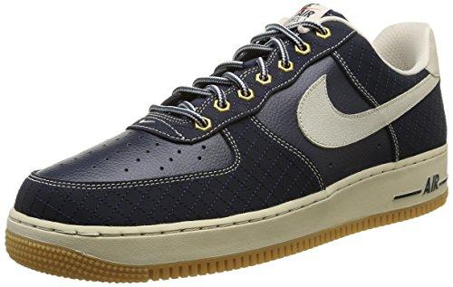 Nike Air Force 1, Chaussures de running entrainement homme Bleu - (Obsidian/Light Brown-Gum Light Brown)