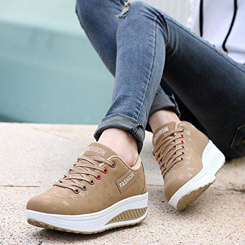 Elecenty scarpa sneakers estive eleganti donna scarpe Scarpa a zeppa  altalena crescente per donna. Visualizza le immagini 1dd036b3396