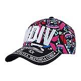 Damen & Herren Baseball Flexfit Cap Hip-Hop-Stil Hut Bunte MDiv Rose Red