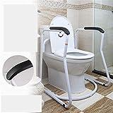 QGQG Sicherheitsgestelle für Toiletten, Lederarmlehne, Barrierefreies Geländer, Schutzgeländer Zu Helfen, Die Älter/Untauglich/Schwangere Frauen Auf Die Toilette Zu Gehen Und Stehen