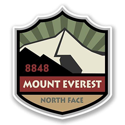 DestinationVinyl 2 x 10cm/100mm Mount Everest Vinyl Selbstklebende Sticker Aufkleber Laptop Reisen Gepäckwagen Cool Zeichen Spaß #4282 (Mounts Zeichen)