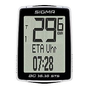 Sigma 01616 - Ciclocomputador, Unisex adulto, color Negro