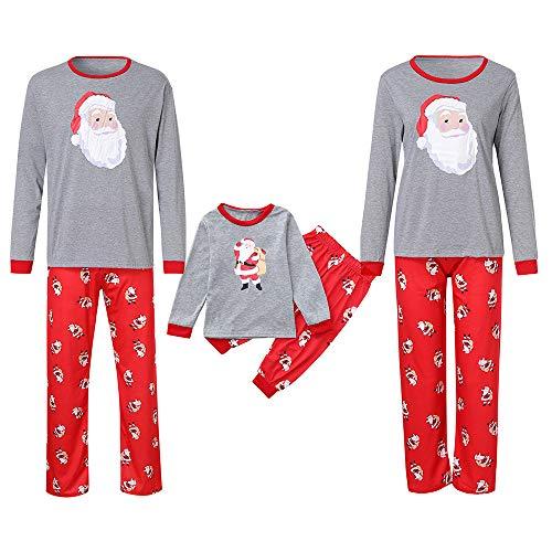 Cramberdy Weihnachts Pyjama für Familie, Schlafanzug Weihnachten Pyjama Familien Set Cartoon Drucken Familie Kleidung Sets Schlafanzug Pyjama Set Eingestellt Schlafanzughosen ()