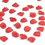 Accmart (TM) 100 Stück Rosenblätter Blumen Blätter für Hochzeit Dekoration Deko (Rot)