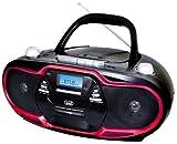 Trevi CMP574Portable AM/FM stereo Boombox with CD Player, Cassette Player/Recorder, MP3and USB. Maximum Output 20watts. In Black And Red., [Importazione da Regno Unito]