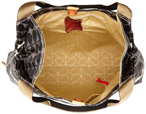 Orla Kiely - Large Holdall, Borsa con Maniglia Donna Black (Jet)