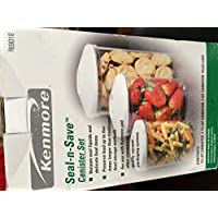 Kenmore Seal-n-save Canister Set. 69018. 3 Canisters. 3/4 Qt, 1 1/2 Qt, 3 Qt by Kenmore