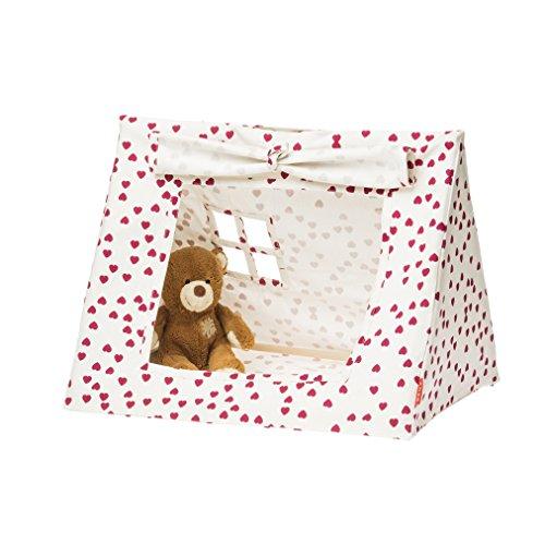 Deuz Mini-Spielzelt aus Bio-Baumwolle (50x40x40 cm), inkl. Stofftasche in rosa