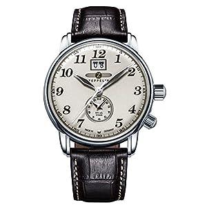 Zeppelin Reloj Analógico de Cuarzo para Hombre con Correa de Piel – 7644-5