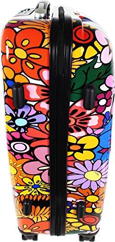 Hartschalen ABS Kofferset 2 tlg Reisekofferset mit Motiv Flowers