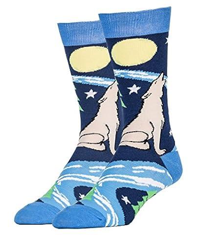 Oooh Yeah Socks Herren Socken Gr. Einheitsgröße, Wolf and Moon