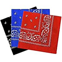 OfferDeal 3Pcs Headwear Face Mask Cowboy Bandanas for Men Women Head Scarf Novelty Print Head Wrap Scarf Wristband for Party Favor Workout Yoga Running Hiking Riding Motorcycling (1-3pack)