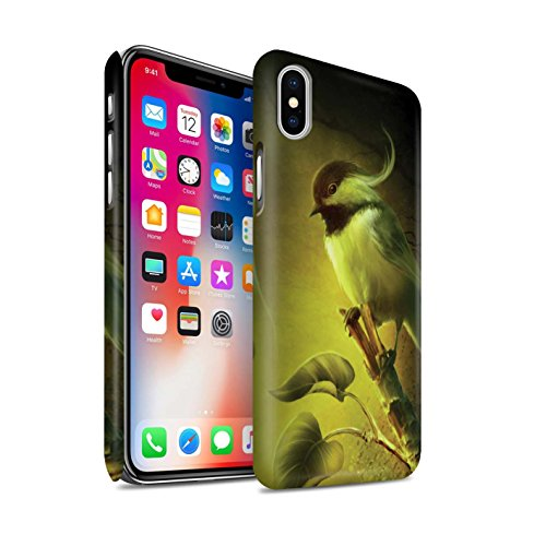 Officiel Elena Dudina Coque / Clipser Matte Etui pour Apple iPhone X/10 / Faucon Gardien/Épée Design / Les Oiseaux Collection Confiance