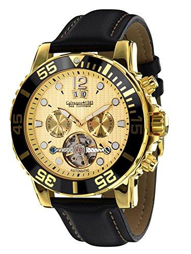 Calvaneo 1583 Sea Command Gold Shiny Creme