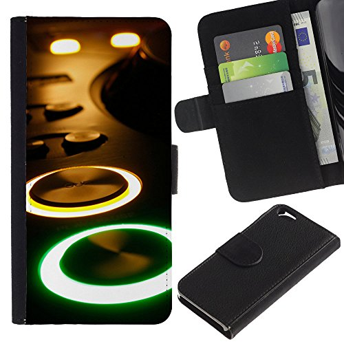 Graphic4You Record Cracks Design Brieftasche Leder Hülle Case Schutzhülle für Apple iPhone 6 / 6S Design #7