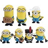 The Yellow Villain Figurines, Hilloly 7 Pcs Mini Figurine, Decorazioni Festa di Compleanno per Bambini e Baby Shower Fornitur