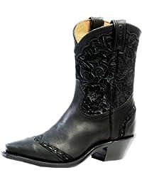 Botas de los EE.UU.-Botas western BO-4636-50-C (pie normal) para mujer, color negro