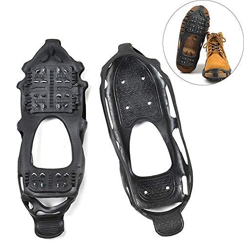 MOGOI Anti-Rutsch-Schuhe Ice Gripper, 1 Paar Ice Schnee Grips Winter Walker Traktion Gerät mit 24 Zähnen für Winterwandern Wandern Bergsteigen M -