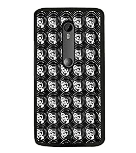 HiFi High Glossy Designer Phone Back Case Cover Motorola Moto G2 :: Motorola Moto G (2nd Gen) ( White and Black Pattern Design )