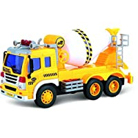 ThinkGizmos Friction Powered Toy Truck With Lights & Sound – Friction Toy (Trademark Protected)