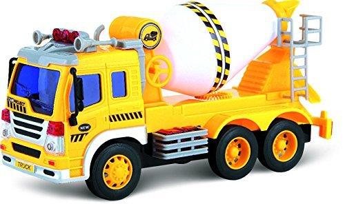 ThinkGizmos Push und Go LKW - Reibungsbetriebener Spielzeug-Zementmischer mit Lichtern und Sound TG640-C - Anschieben und los geht\'s reibungsbetriebener Spielzeug-LKW (geschützte Marke)