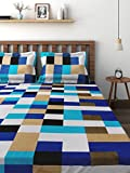 #4: Cortina 104 TC Cotton Double Bedsheet with 2 Pillow Covers  - Multicolour