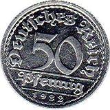 50 Pfennig Deutschland, 1922 G (Jäger: 301) Stempelglanz