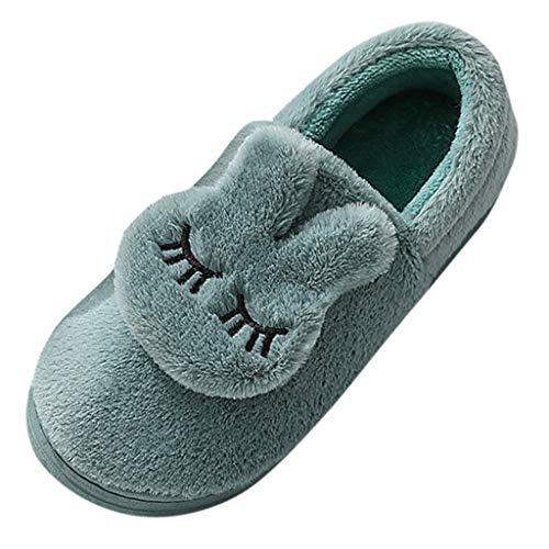 ODRD Winter Baumwolle Pantoffeln Plüsch Warm gefütterte Unisex-Hausschuhe wasserdichte Gartenschuhe für drinnen und draußen Hausschuhe Kuschelige Home Slippers, Antirutsch Gästepantoffeln Unisex
