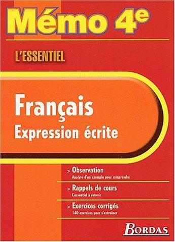 MEMO ESSENTIEL EXPRESSION ECRITE 4E (Ancienne Edition)