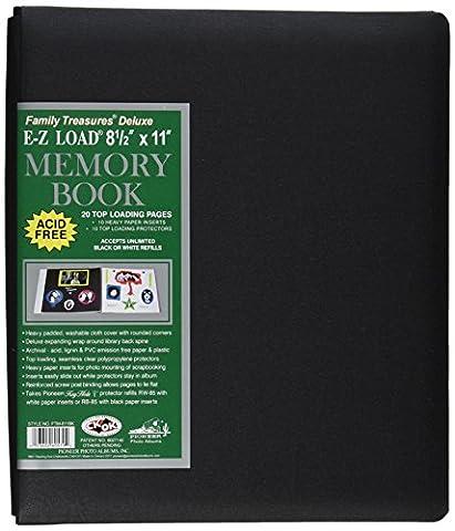 Trésors de famille tissu Deluxe Postbound Album 8,5 « X 11 »-noir