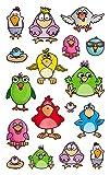 AVERY Zweckform 56797 Metallic Stickers, Vögel, 17 Aufkleber