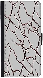 Snoogg Red Crack Designer Protective Phone Flip Back Case Cover For Samsung Galaxy J7 (2016)